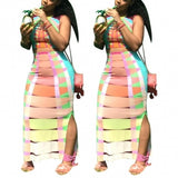 Multi Two Piece Skirt Set