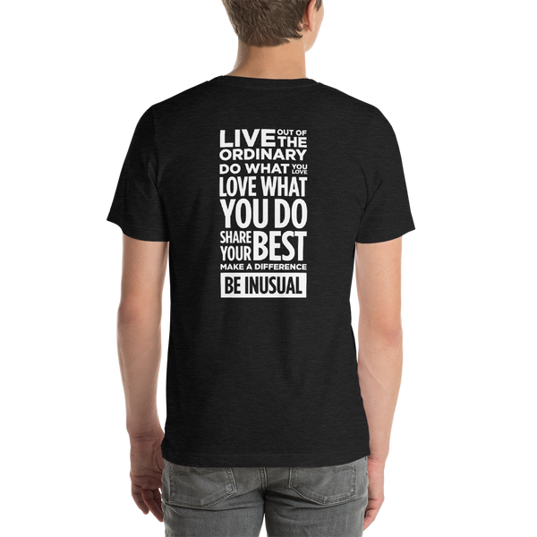 Be Inusual Short-Sleeve Unisex T-Shirt - Back