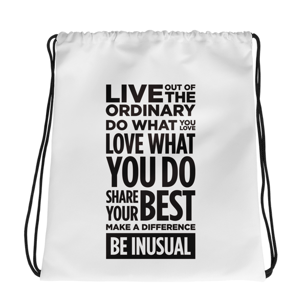 Be Inusual Drawstring bag