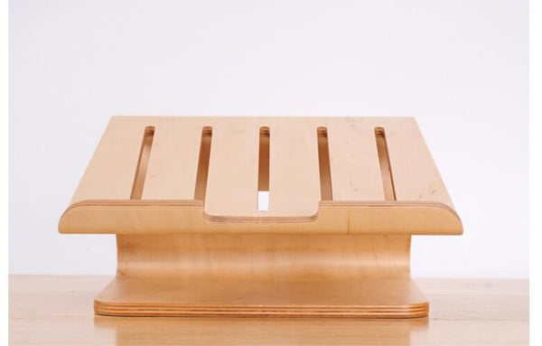 Wooden notebook cooling support