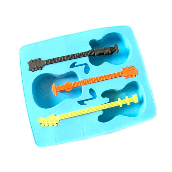 Creative Guitar Ice Mould Novelty Gifts Ice Tray