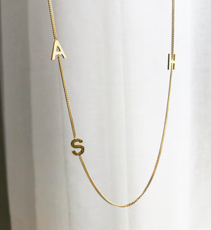 LETTERS ON CHAIN necklace - BYVELA jewellery