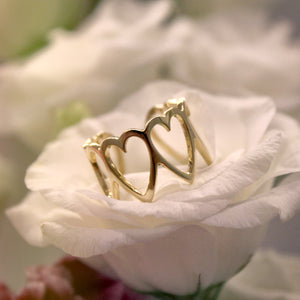 ABELLE ring - BYVELA designer jewellery in silver and gold