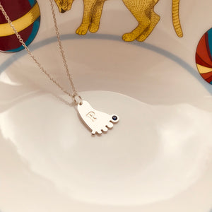 BABY FOOT necklace - BYVELA designer jewellery in silver and gold