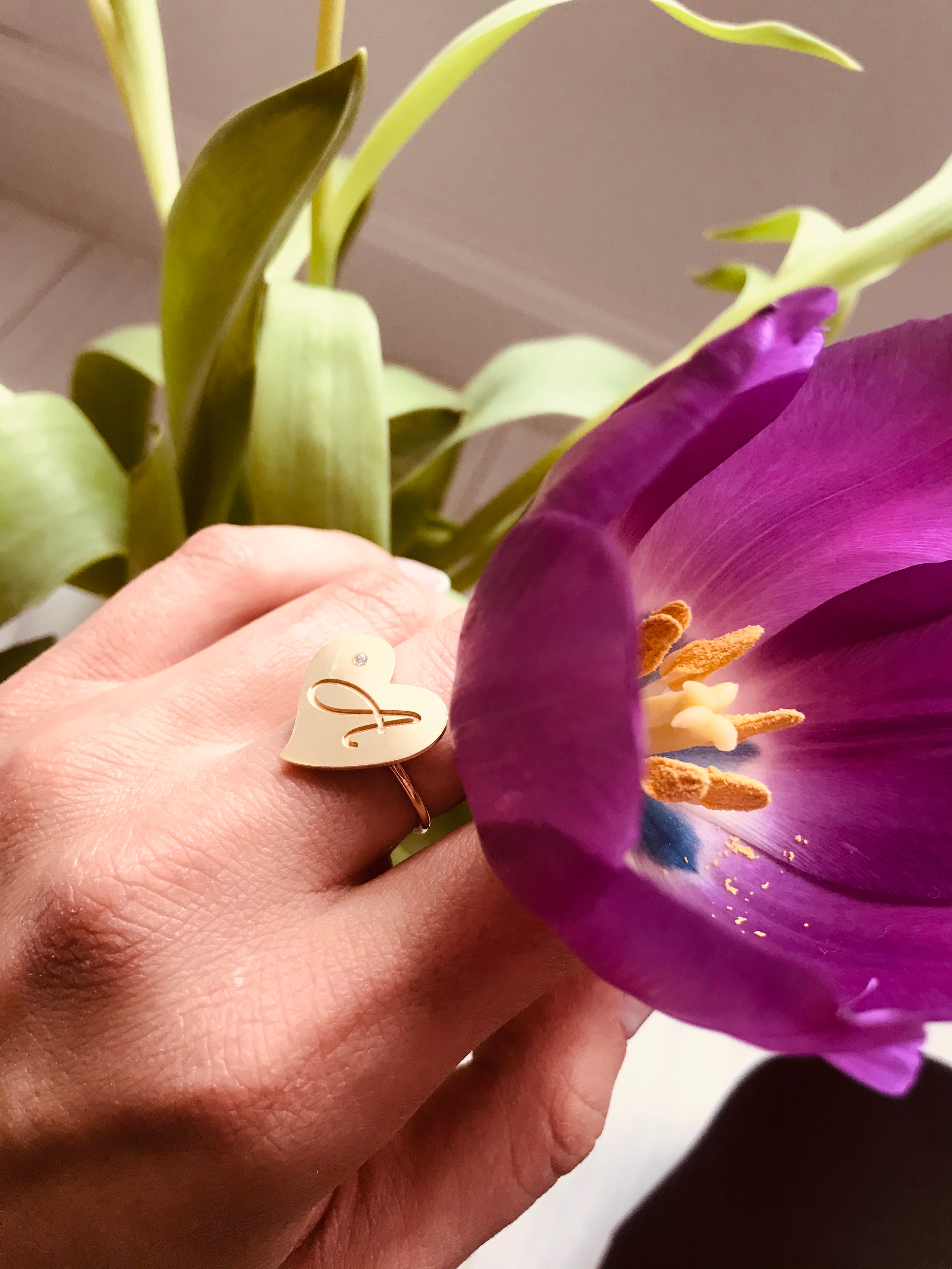 MON COEUR ring - BYVELA designer jewellery in silver and gold