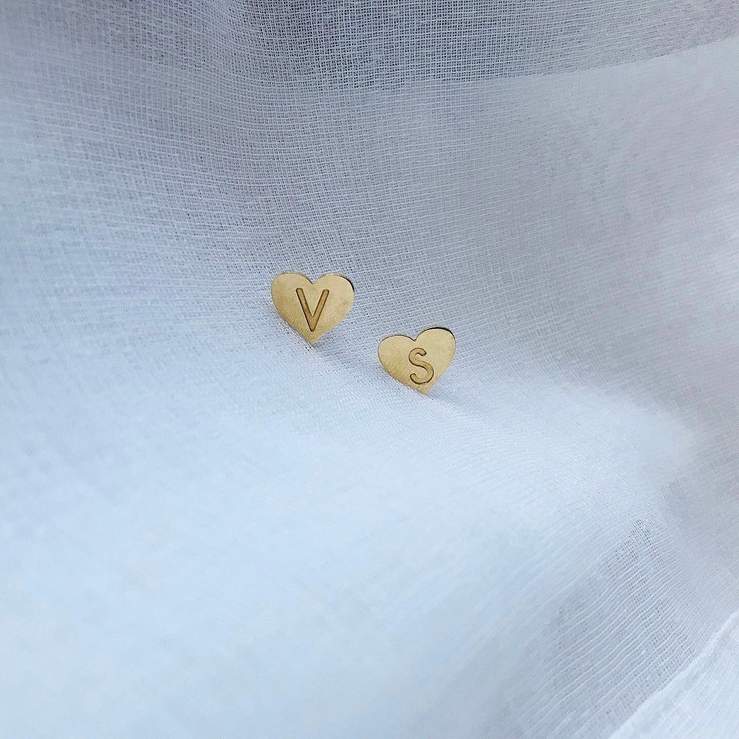 MY HEART earrings - BYVELA designer jewellery in silver and gold