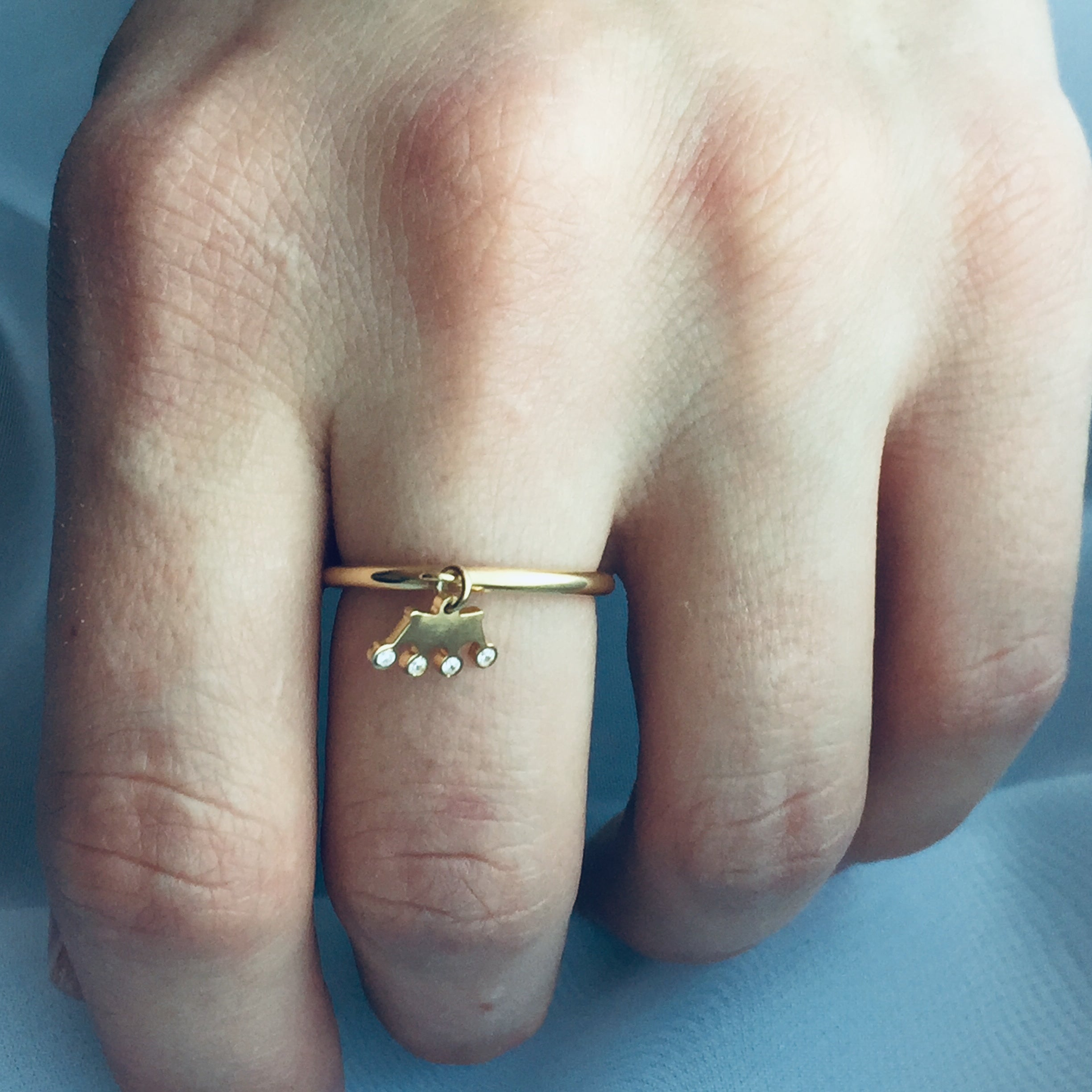 CROWN CHARM ring - BYVELA designer jewellery in silver and gold