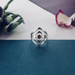ROMBELLE Ring - BYVELA designer jewellery in silver and gold