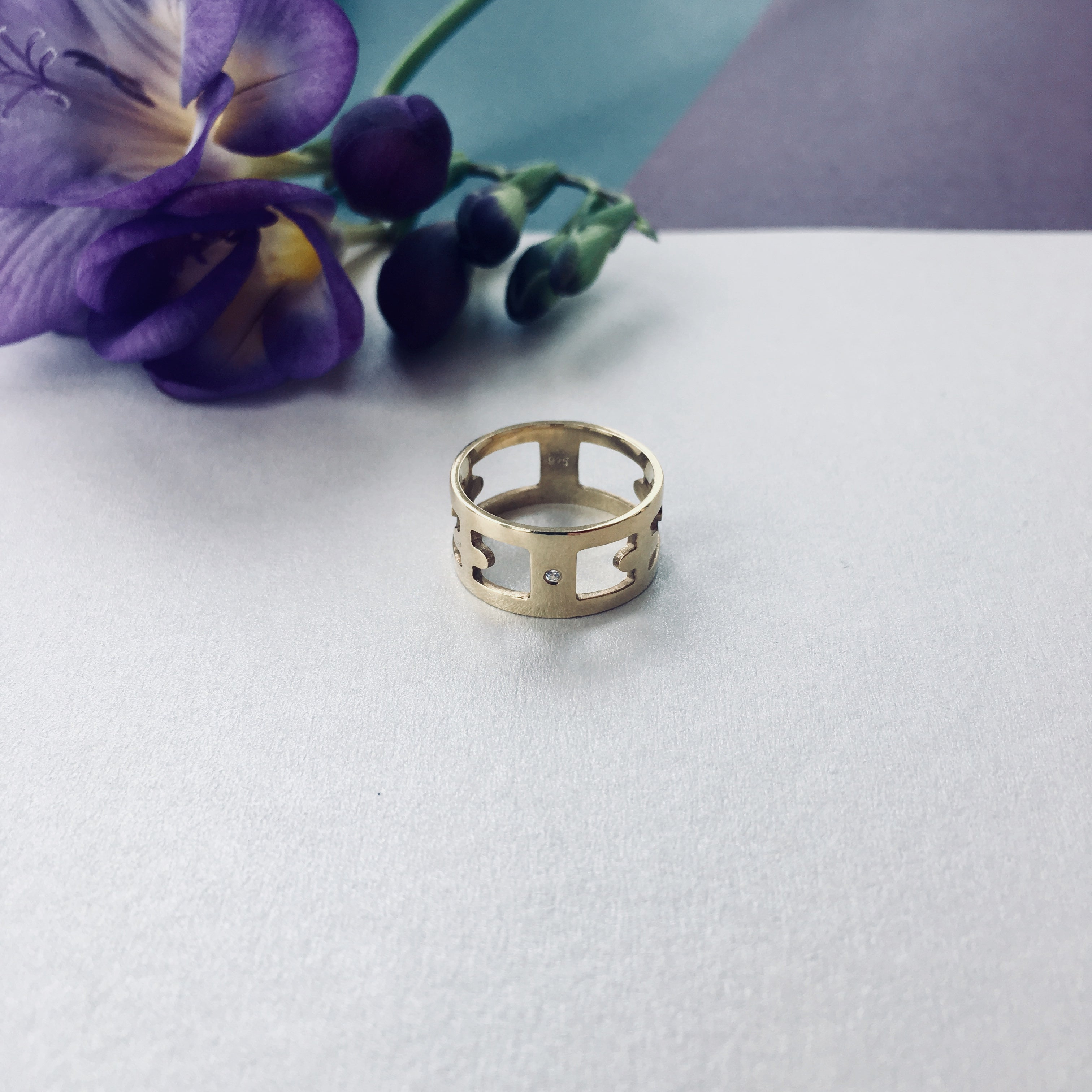 MAURA Ring - BYVELA designer jewellery in silver and gold