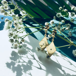DIA Earrings - BYVELA designer jewellery in silver and gold