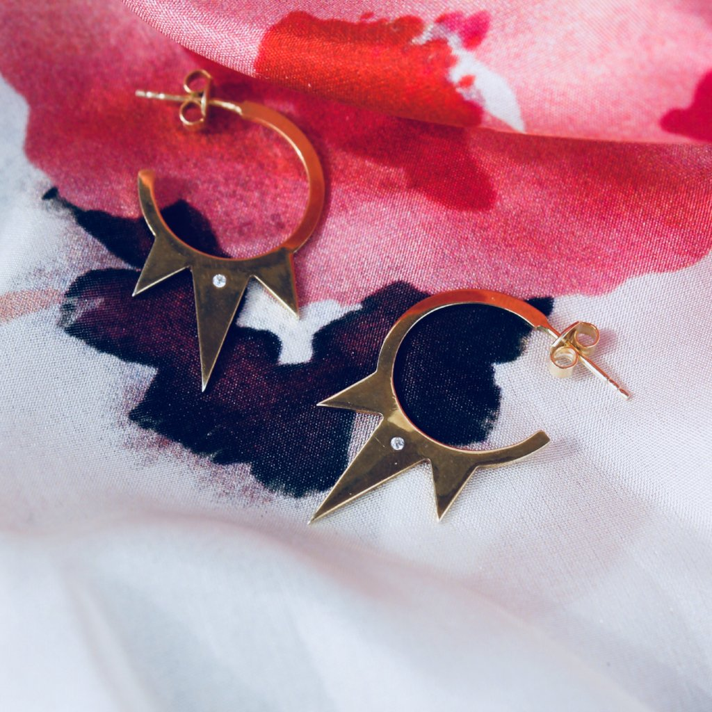 SAFIRA Earrings - BYVELA designer jewellery in silver and gold