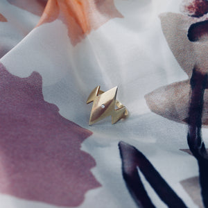 SAFIRA Ring - BYVELA designer jewellery in silver and gold