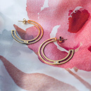 RONDÉ Earrings - BYVELA designer jewellery in silver and gold