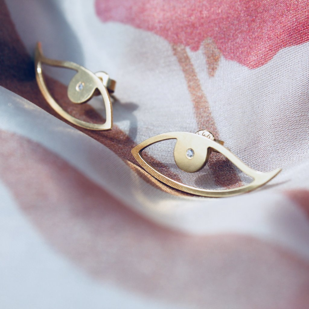 ISEU Earrings - BYVELA designer jewellery in silver and gold
