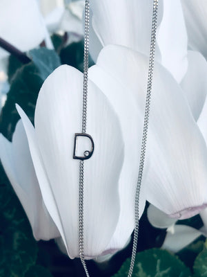 FROSTED LETTERS necklace - BYVELA jewellery
