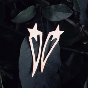 KOMETA earrings - BYVELA designer jewellery in silver and gold