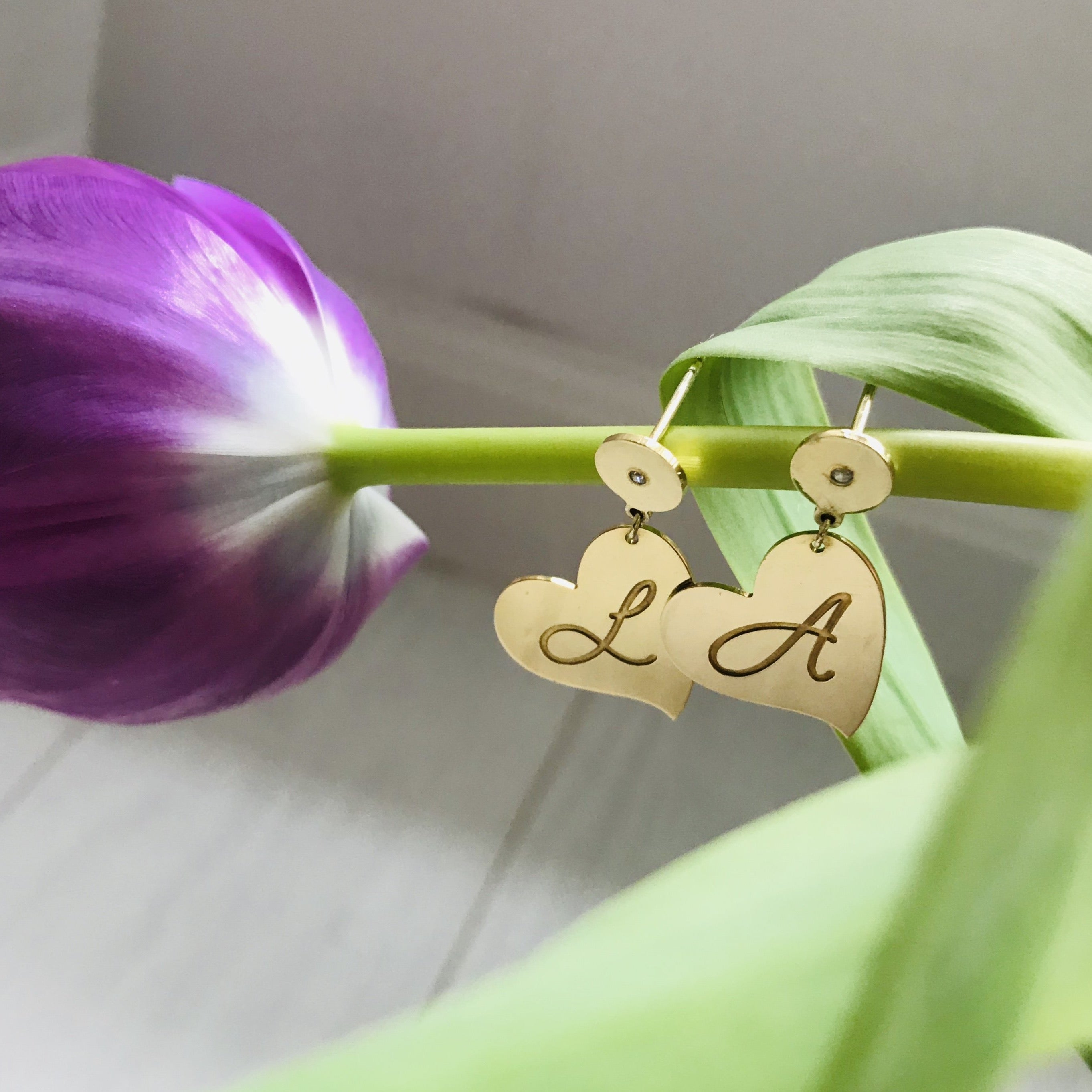 MON COEUR earrings - BYVELA designer jewellery in silver and gold