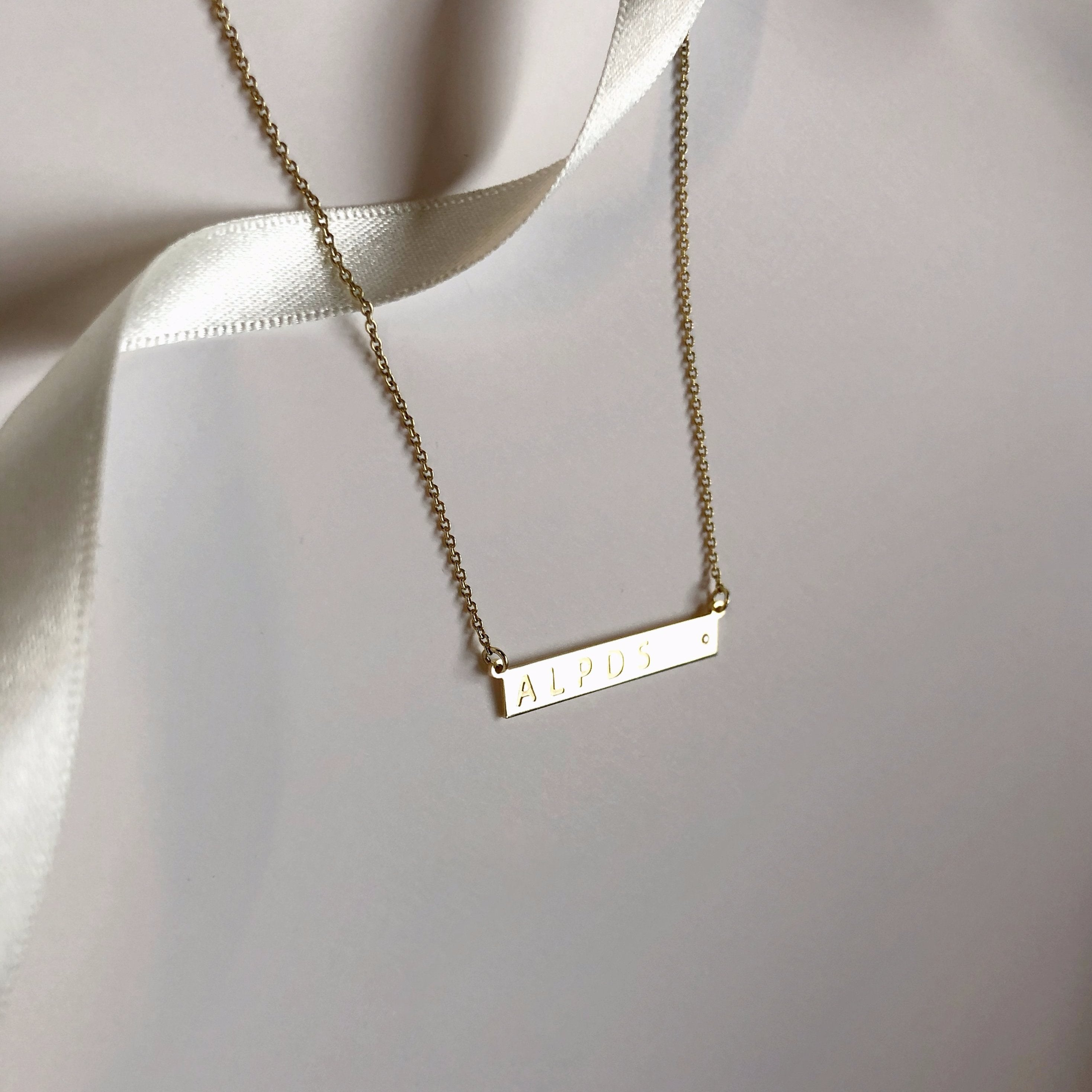 LE BAR necklace - BYVELA designer jewellery in silver and gold