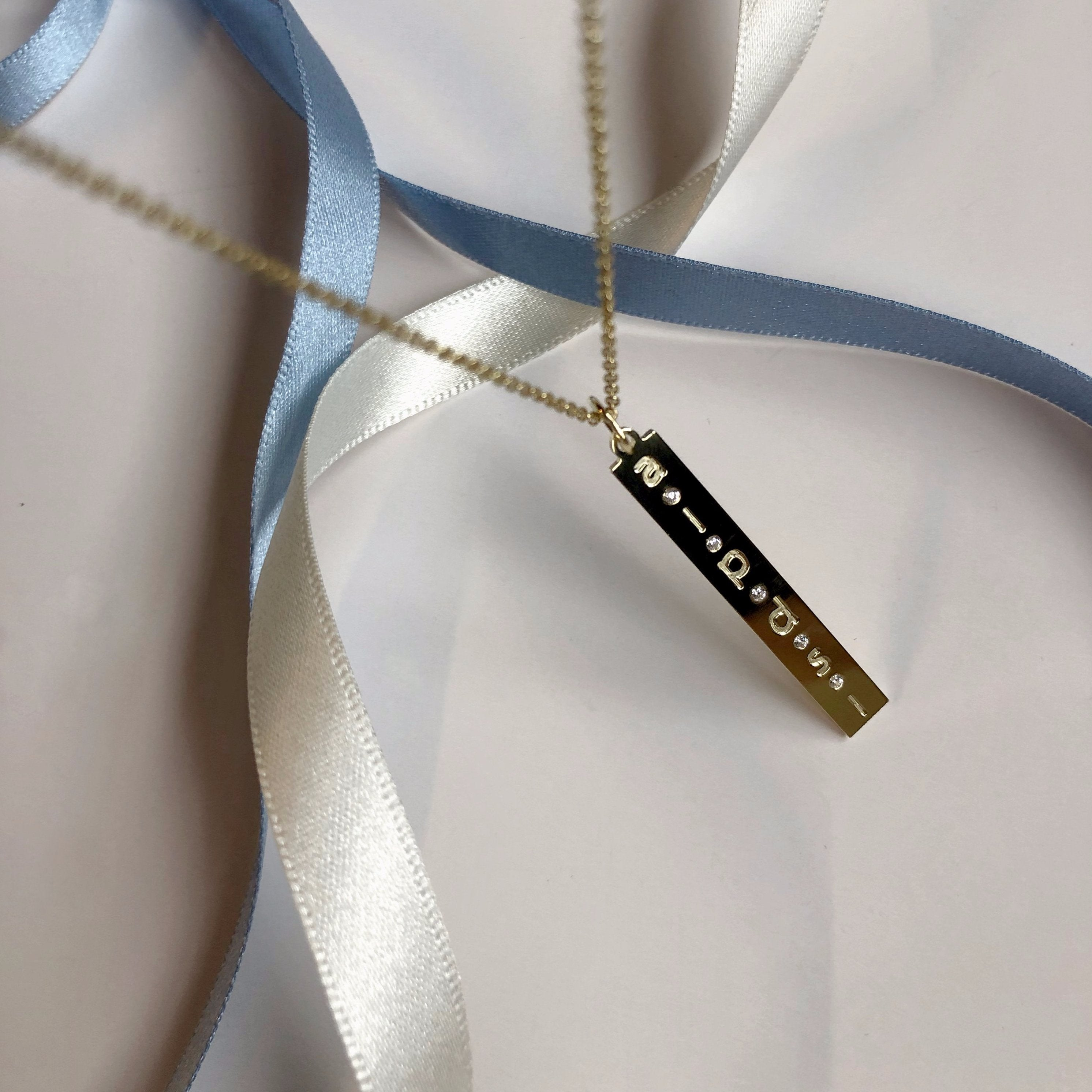LE TAG necklace - BYVELA designer jewellery in silver and gold