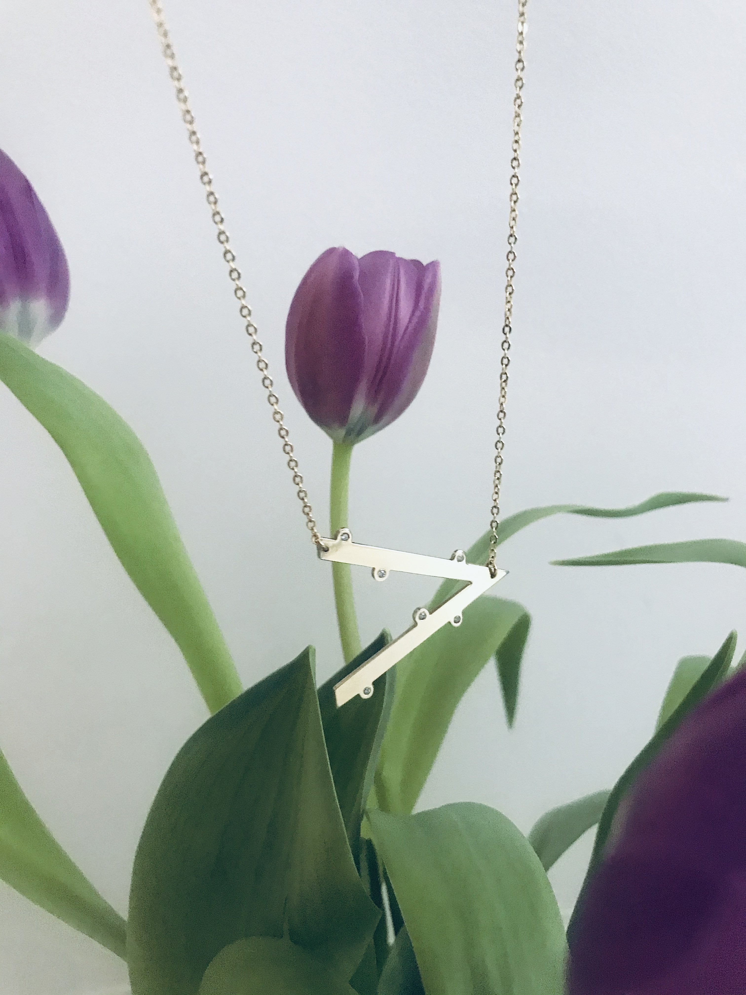 MY OVERSIZED INITIAL necklace - BYVELA designer jewellery in silver and gold