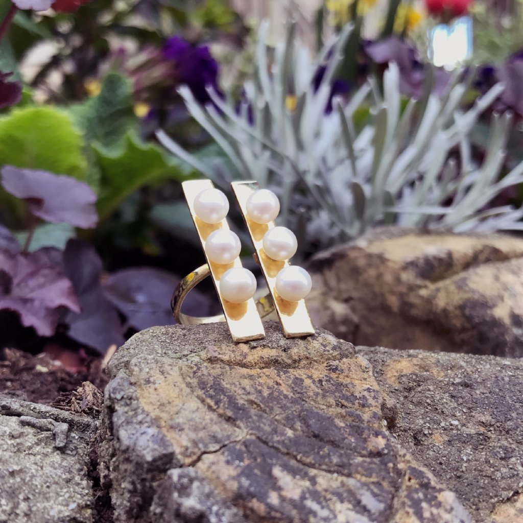PETRA ring - BYVELA designer jewellery in silver and gold