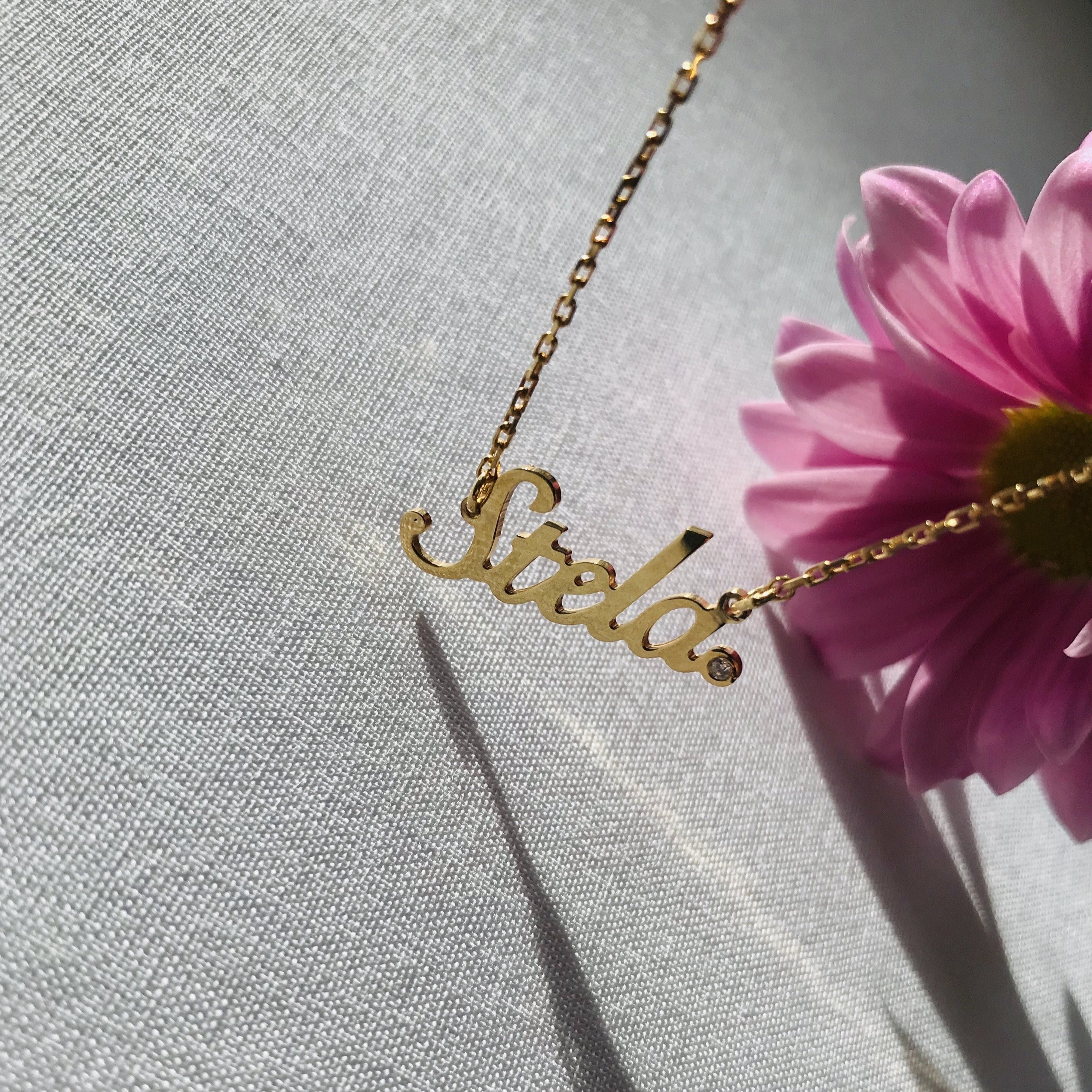 MY NAME Necklace - BYVELA designer jewellery in silver and gold