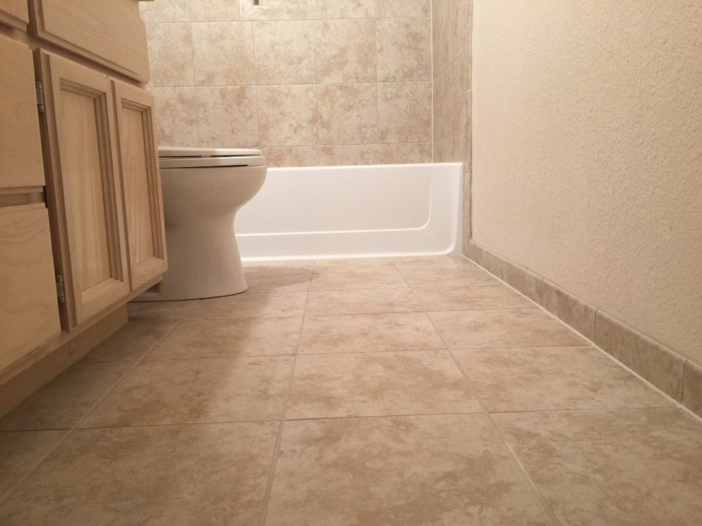 Bathroom renovation with Ceramic Tile Pro Super Grout Additive®