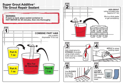 mixing instructions for sga super grout additve
