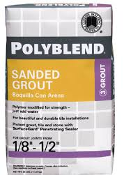 Polyblend Sanded grout made by Custom Building Products