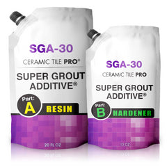 SGA 30 oz Premium Waterproof Tile Grout Repair - Ideal to Restore and Seal - Mix to Any Color