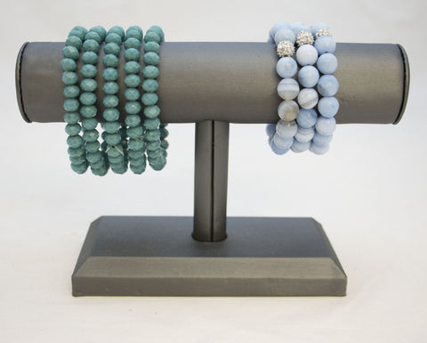 5 pc Stretch Stone bracelets