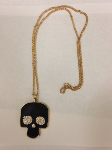 Reversible Skull Necklace