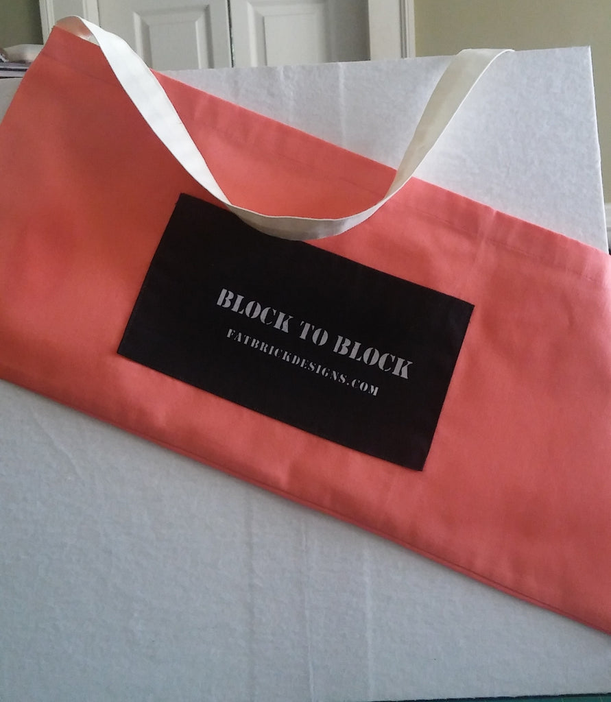 Block to Block Tote Bag