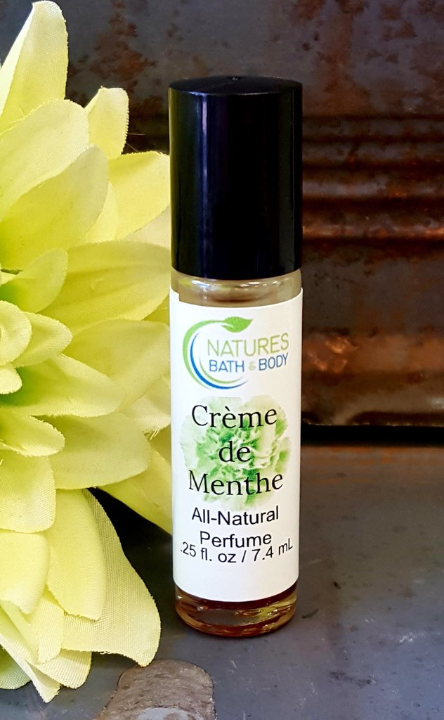 Our All Natural Crème de Menthe Essential Oil Perfume is scrumptious!