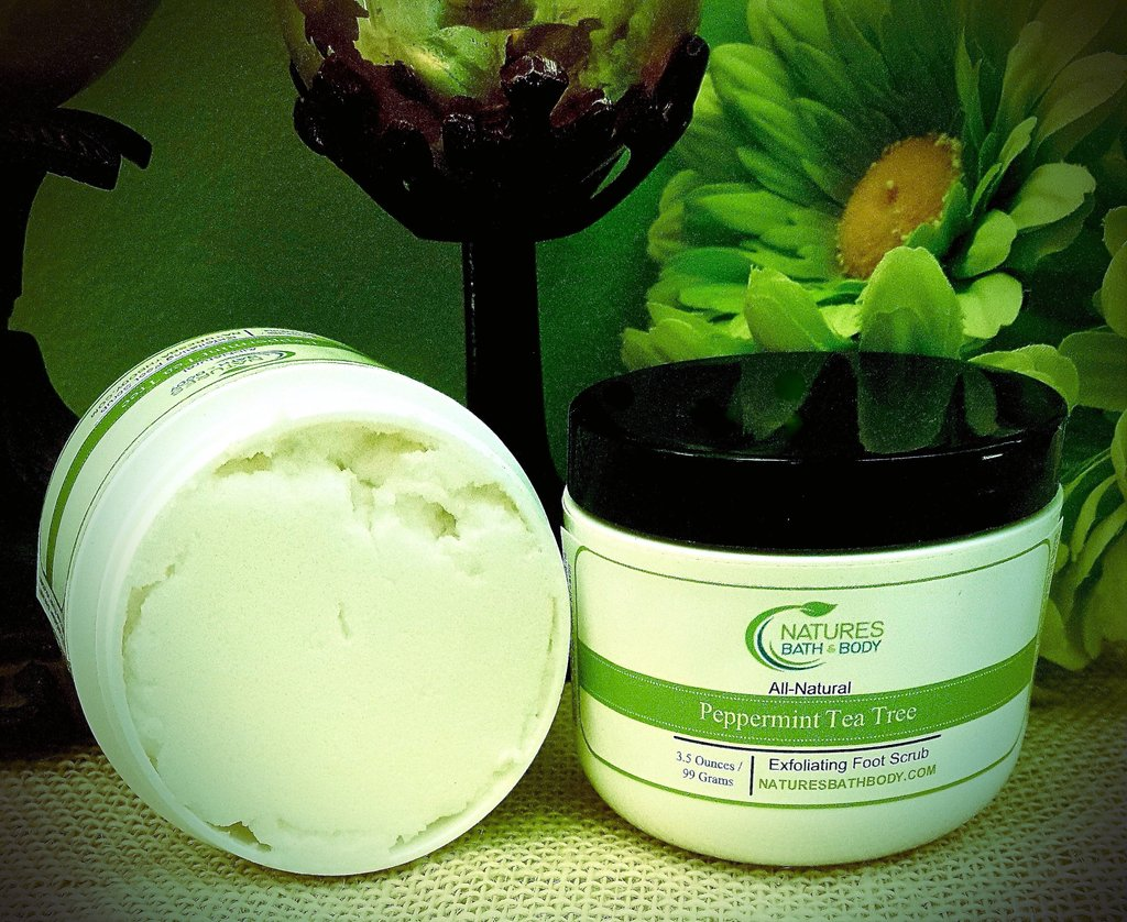 FIVE DAYS OF FOOT CARE FUN! DAY 2 *ALL NATURAL PEPPERMINT & TEA TREE EXFOLIATING SUGAR SCRUB*