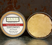 Gentlemen's Shaving Soap w/ Tin - Natures Bath & Body