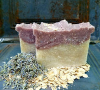 All-Natural Lavender Oatmeal Handmade Soap