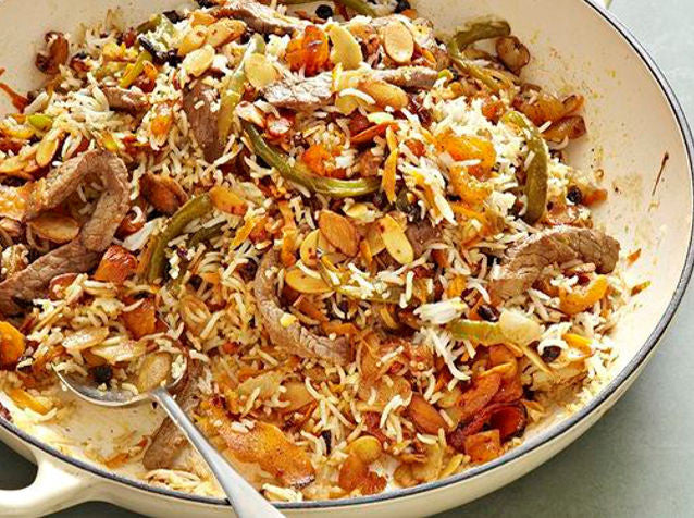 Nut Pilaf with Basmati or Cauliflower