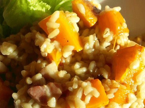 Butternut Squash Risotto and a Mixed Green Salad