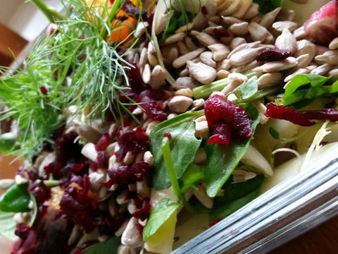 Energy Salad with Roasted Sunflower, Pumpkin and Sesame Seeds