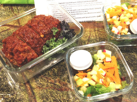 Turkey Meatloaf & Mixed Green Salad