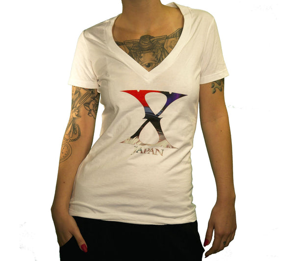 Ladies Logo V-Neck - X Japan Official Online Store - 1