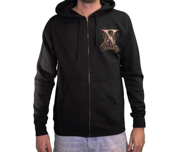 Sepia Rose Zip Hoodie - X Japan Official Online Store - 1
