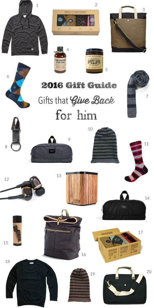 Gifts That Give Back // For Him