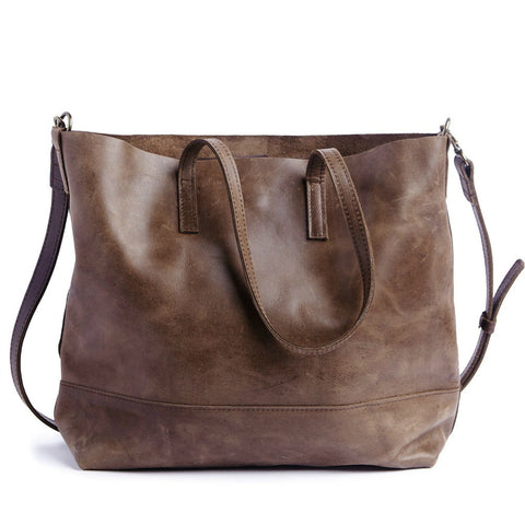 Abera Crossbody Tote // Chocolate // FashionABLE // Society B - Fair Trade Products and Gifts that Give Back - 1