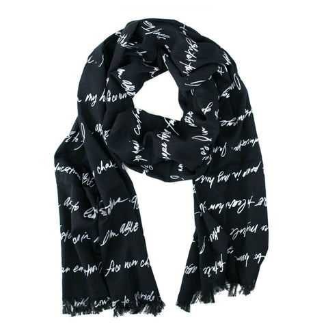 ABLE Scarf // Black and White // FashionABLE // Society B - Fair Trade Products and Gifts that Give Back - 1