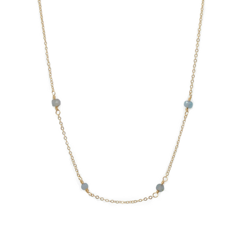 Halcyon Necklace // Labradorite