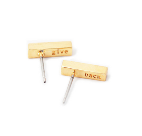 Rae Earrings // Gold // HALF UNITED // Society B - Fair Trade Products and Gifts that Give Back