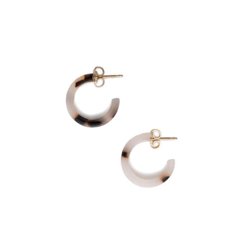 Iris Hoop Earrings // Blond