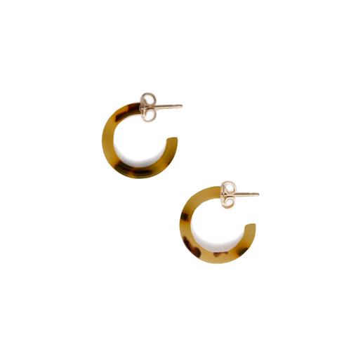 Iris Hoop Earrings // Brown